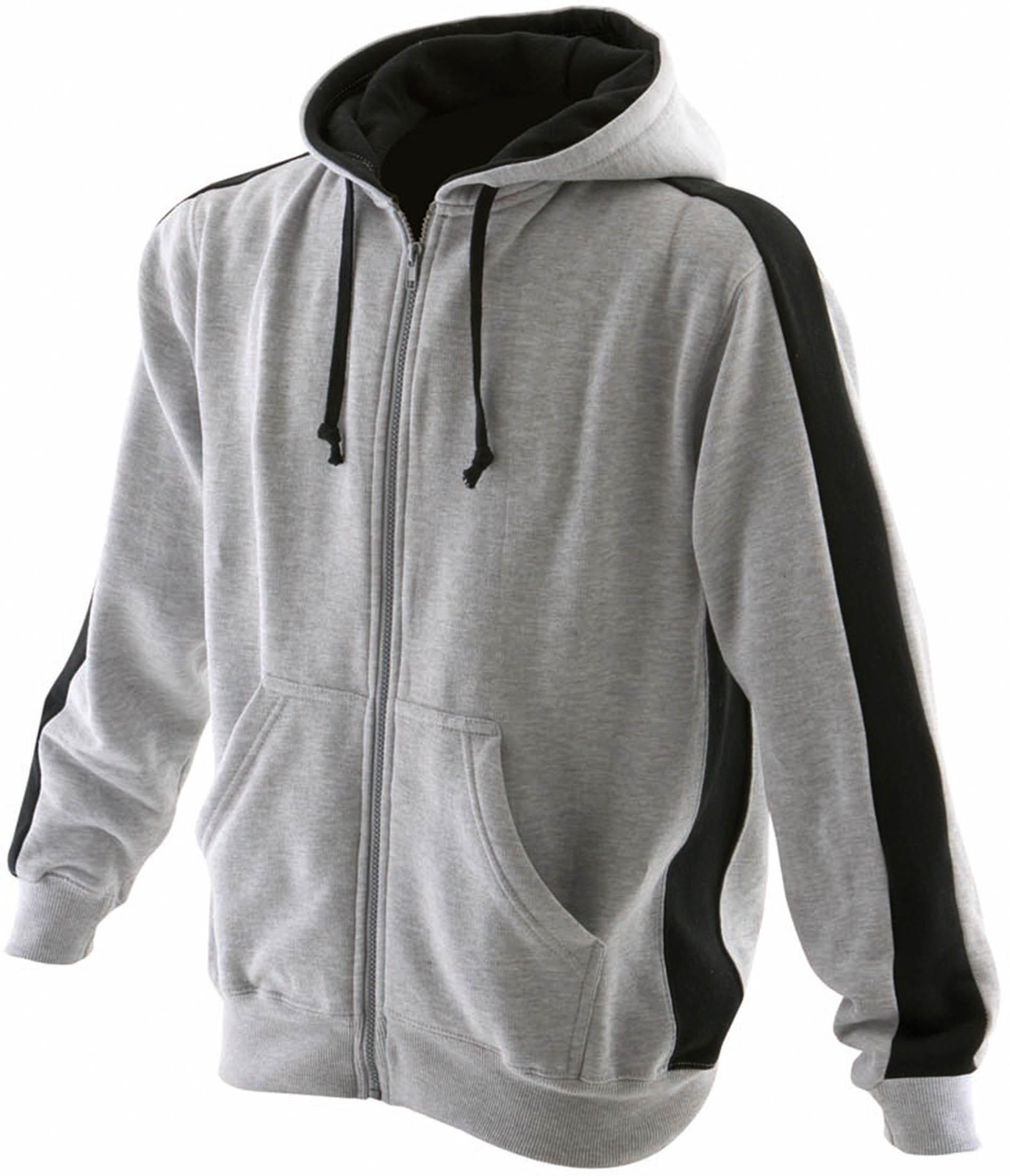 Sweat shirt zippé à capuche bicolore