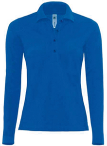 POLO FEMME SAFRAN MANCHES LONGUES
